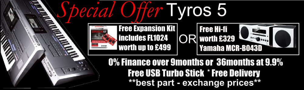 Yamaha Tyros 5 Special Offers