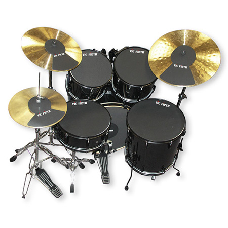vic firth 18 drum kit mute set pp7 including cymbal mute pads. Black Bedroom Furniture Sets. Home Design Ideas