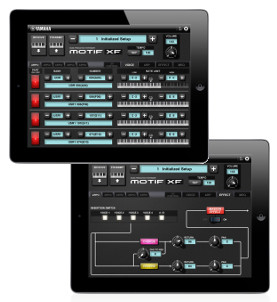 Yamaha iPad app displays