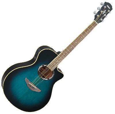 Yamaha apx500iii electro acoustic guitar oriental blue burst for Apx guitar yamaha